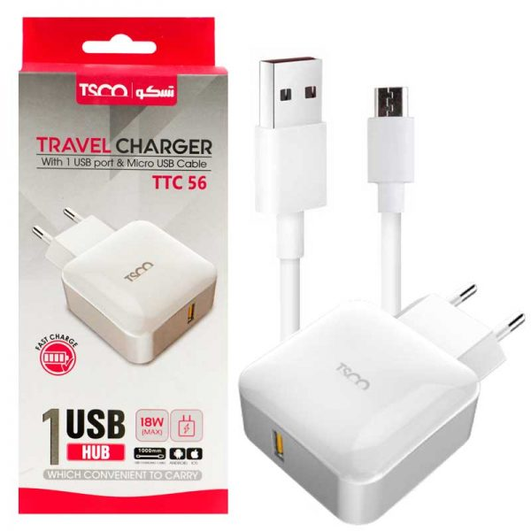TSCO-TTC56-1Port-Wall-Charger-With-1m-MicroUSB-Charge-Cable-2